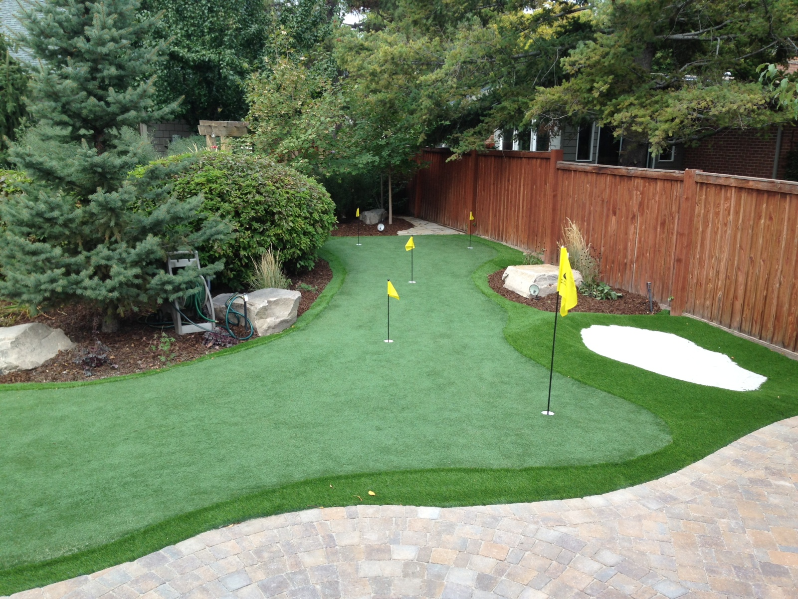 Backyard Putting Green Designs putting green brim design installation by long island ny company gappsi outdoors Backyard Putting Greens