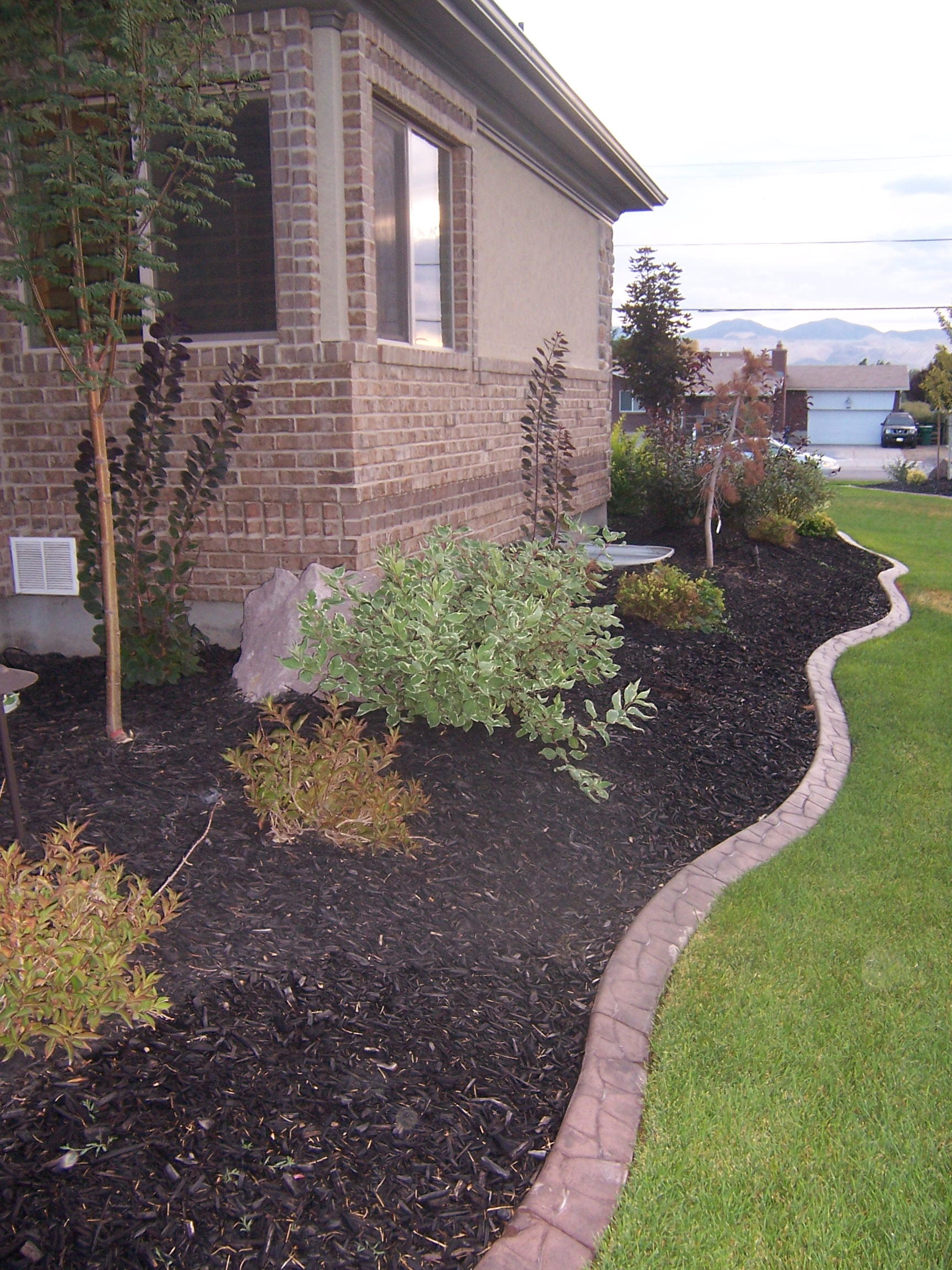decorative curbing salt lake area